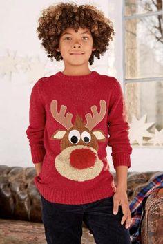 next boys christmas jumper