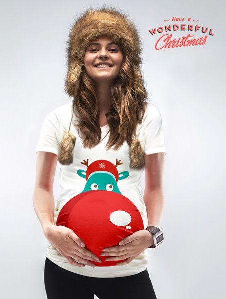 rudolfs nose maternity christmas jumper - Maternity Christmas Shirts